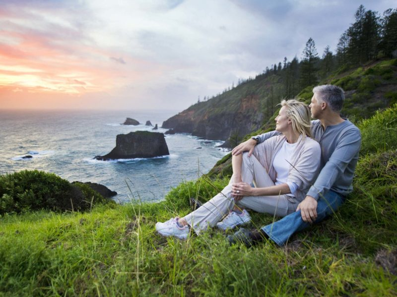 Norfolk Island Travel Centre Couple Sunset