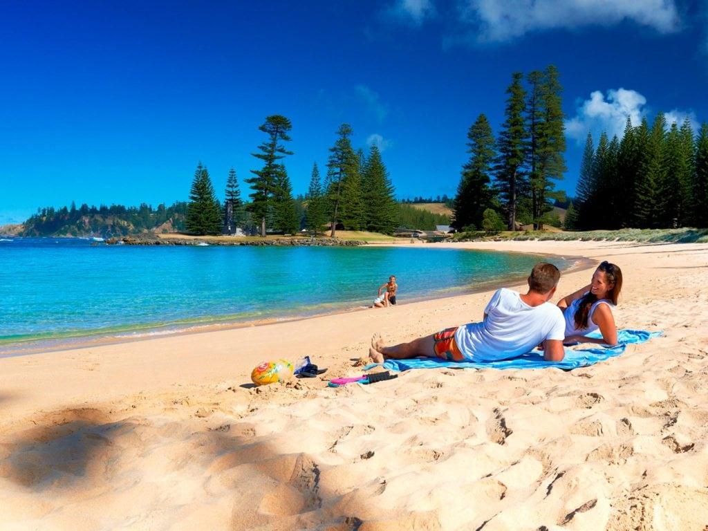 Norfolk Island Travel Centre Emily Bay Family Couple