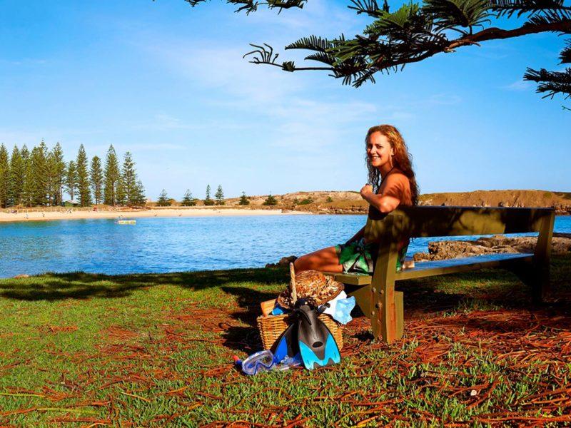 Norfolk Island Travel Centre Woman Emily Bay