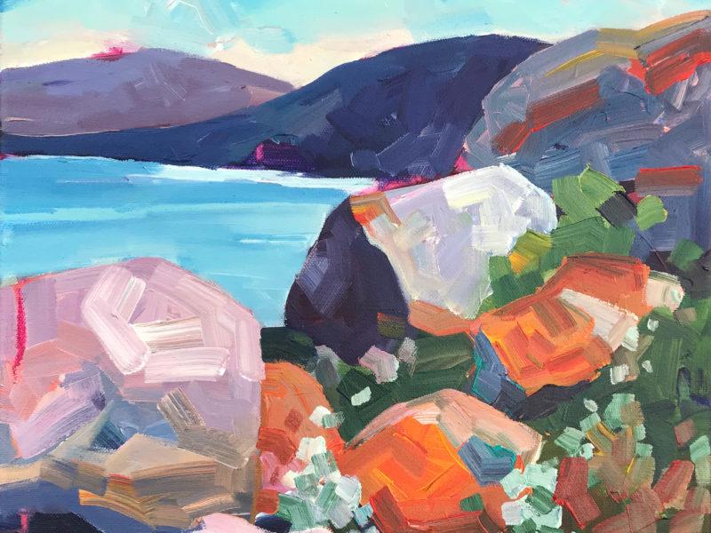 Mellisa Read Devine En Plein Air Painting Trip Boulders By The Bay Bay Of Fires TAS