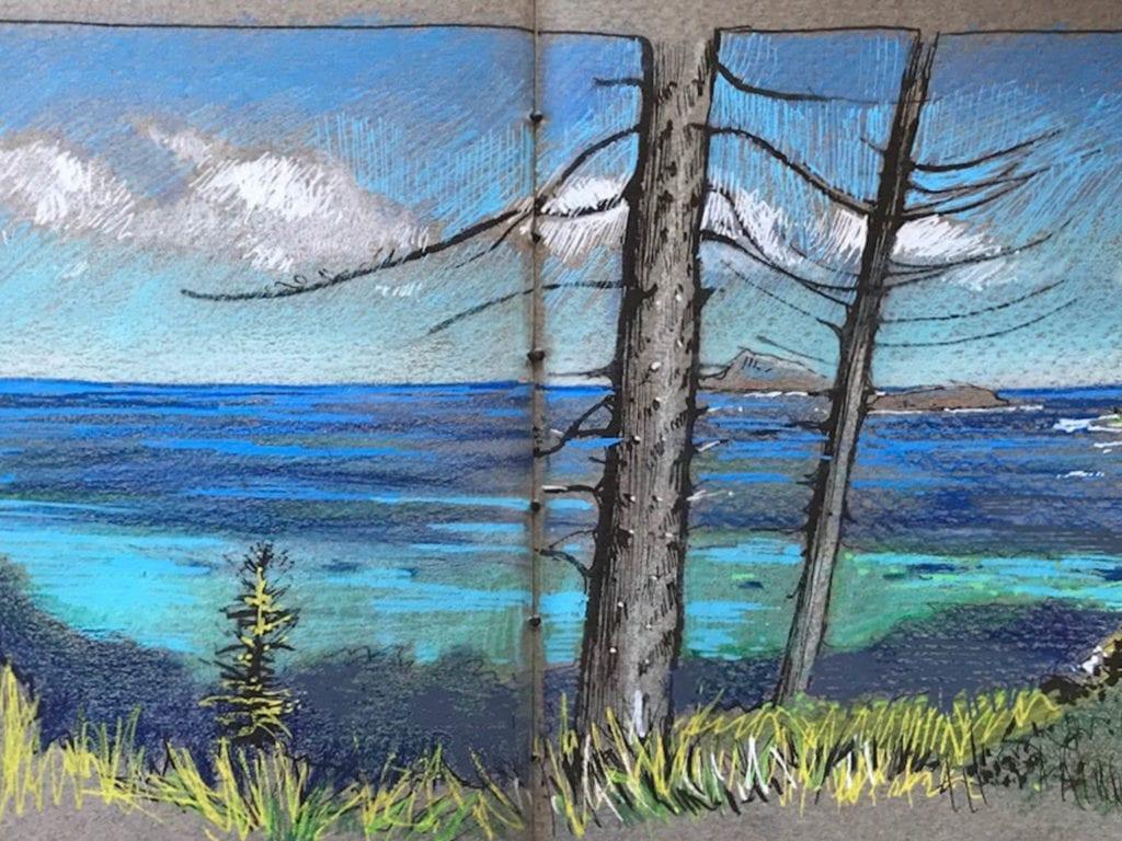 Norfolk Island Travel Centre En Plein Air Amanda McLean Cemetery Bay