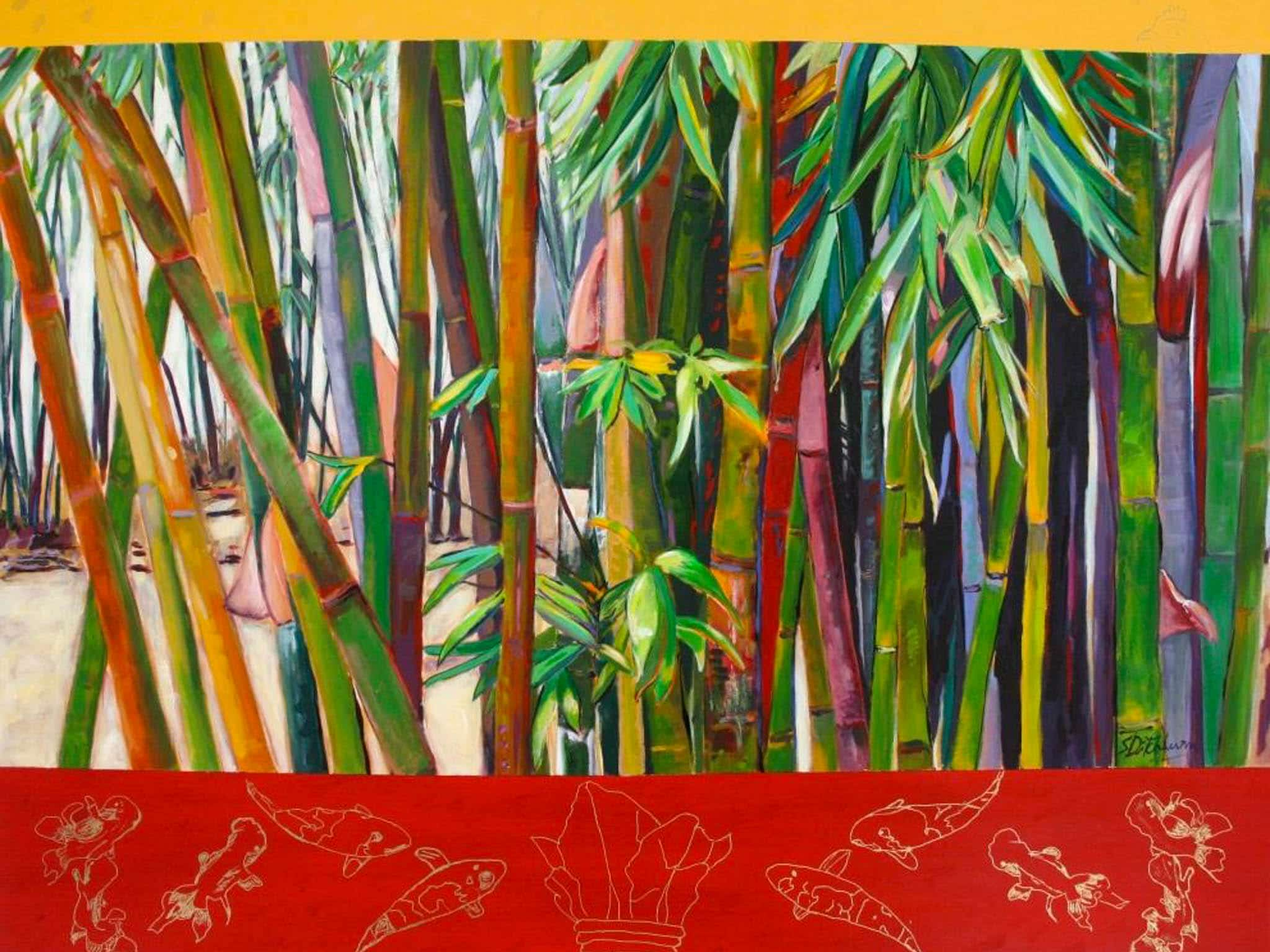 Norfolk Island Travel Centre En Plein Air Sylvia Ditchburn Bamboo Forest
