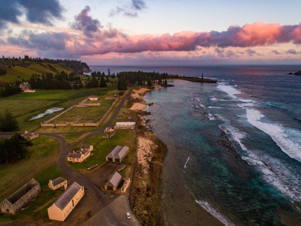 Slaughter Bay Aerial Norfolk Island