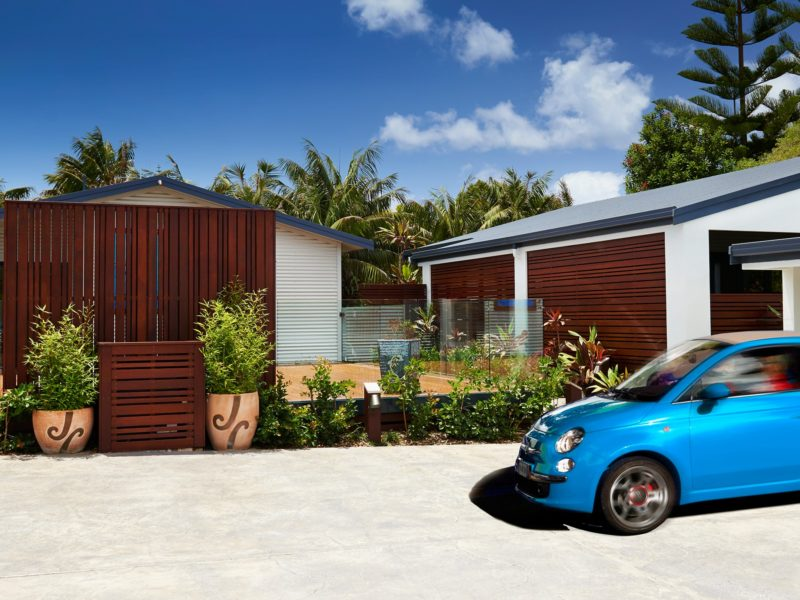 Tin Sheds Norfolk Island Travel Centre Deal Outdoor Courtyard1