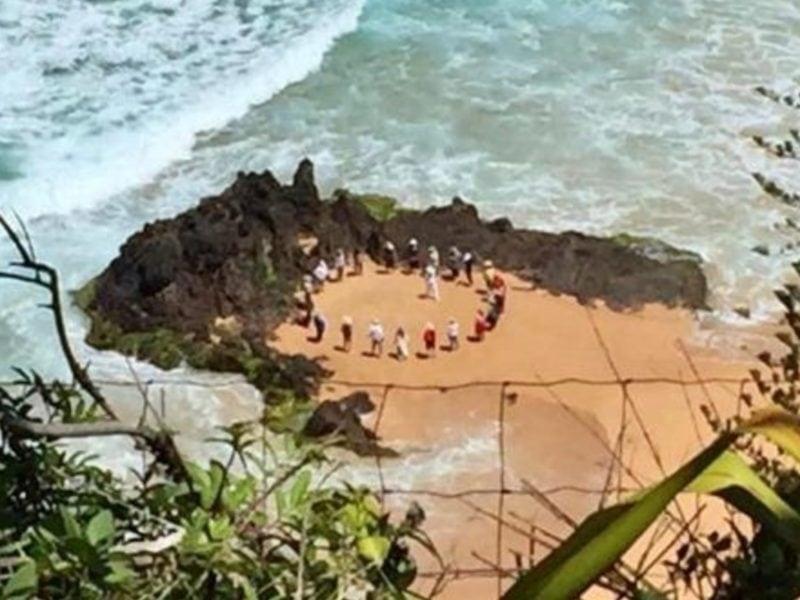 Spiritual circle at Anson Bay