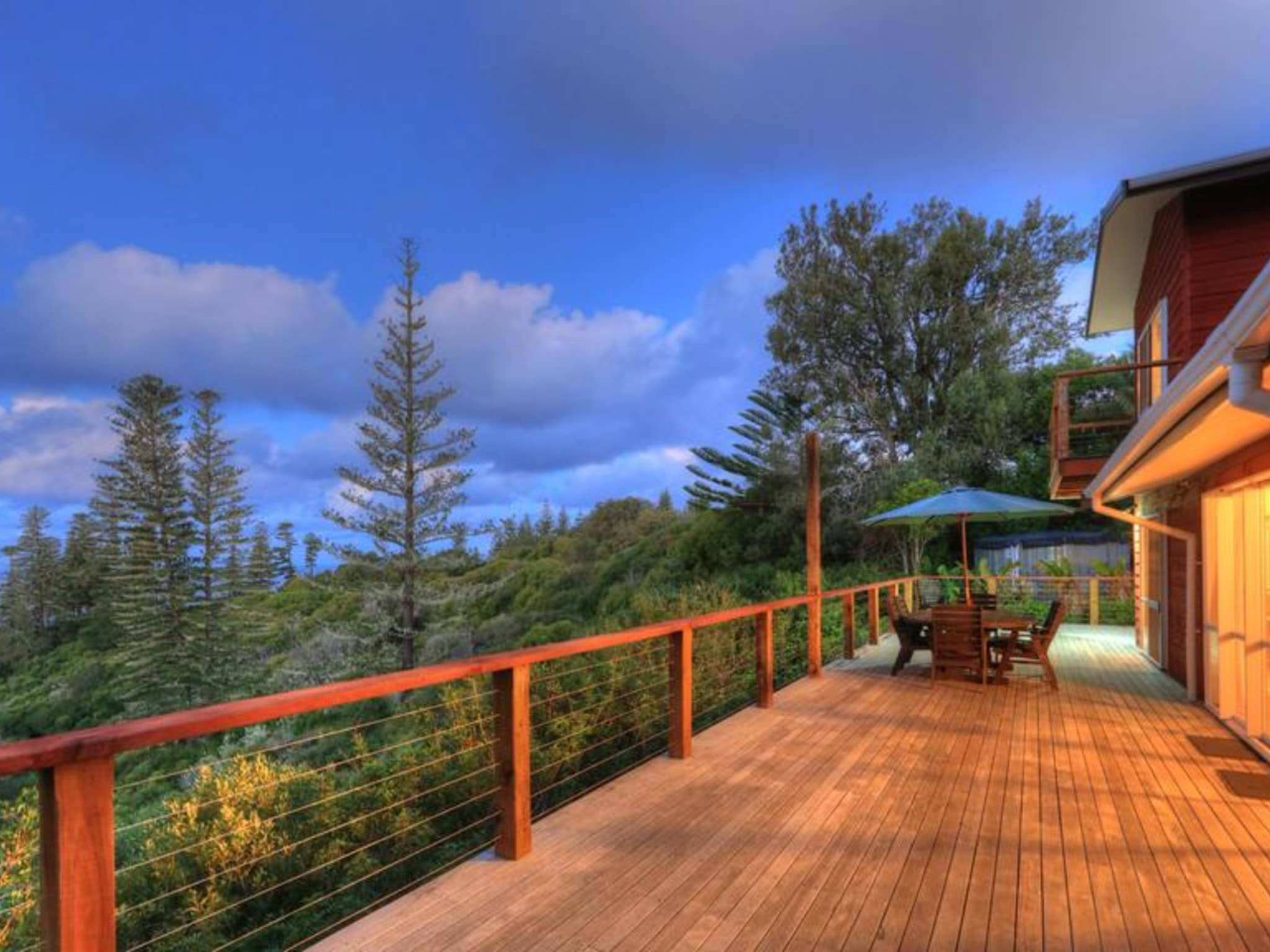 Ball Bay House Norfolk Island Night Timber Deck
