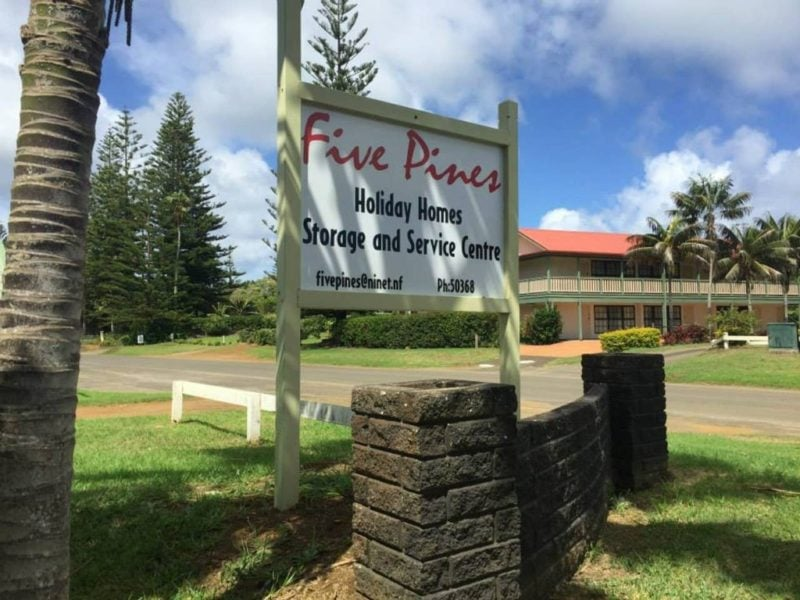 Five Pines Norfolk Island Norfolk Island Travel Centre Front Sign